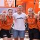 Auch Ex-Baskets- und Nationalspielerin Steffi Wagner gratulierte den jungen Baskets-Spielerinnen